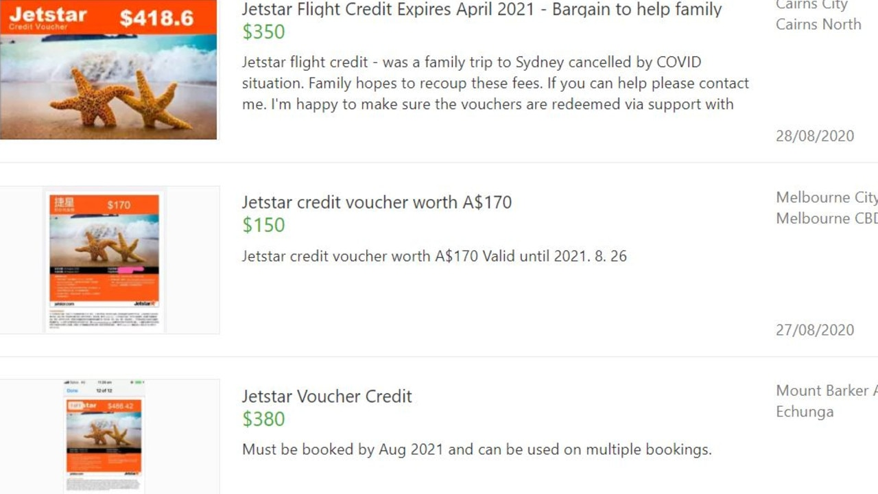 Examples of vouchers available for sale for a discount online.