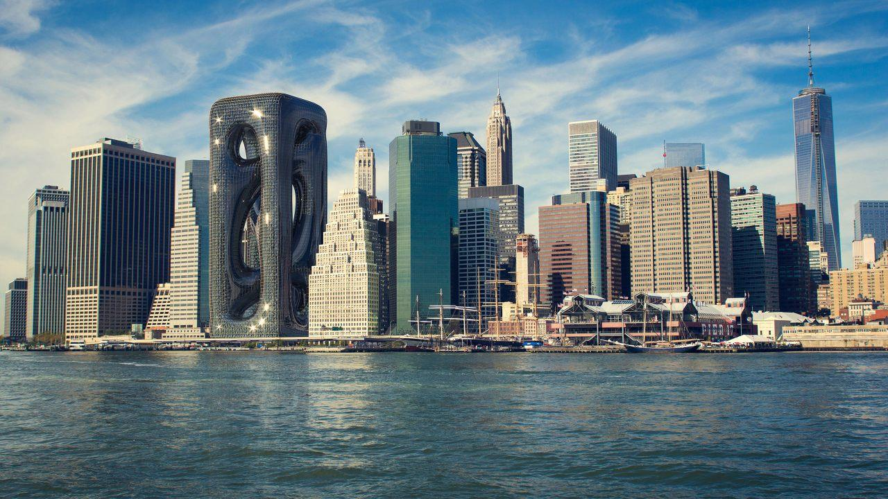The new Sarcostyle Tower, set to be built in Manhattan.