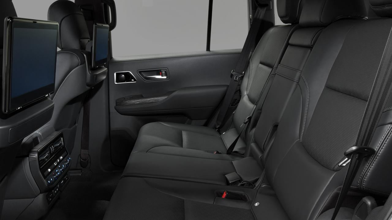 Rear climate controls, power outlets and video displays are available in the Sahara ZX.
