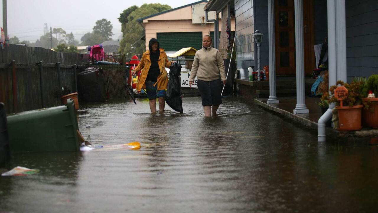 Newcastle streets flooded by storm in NSW
