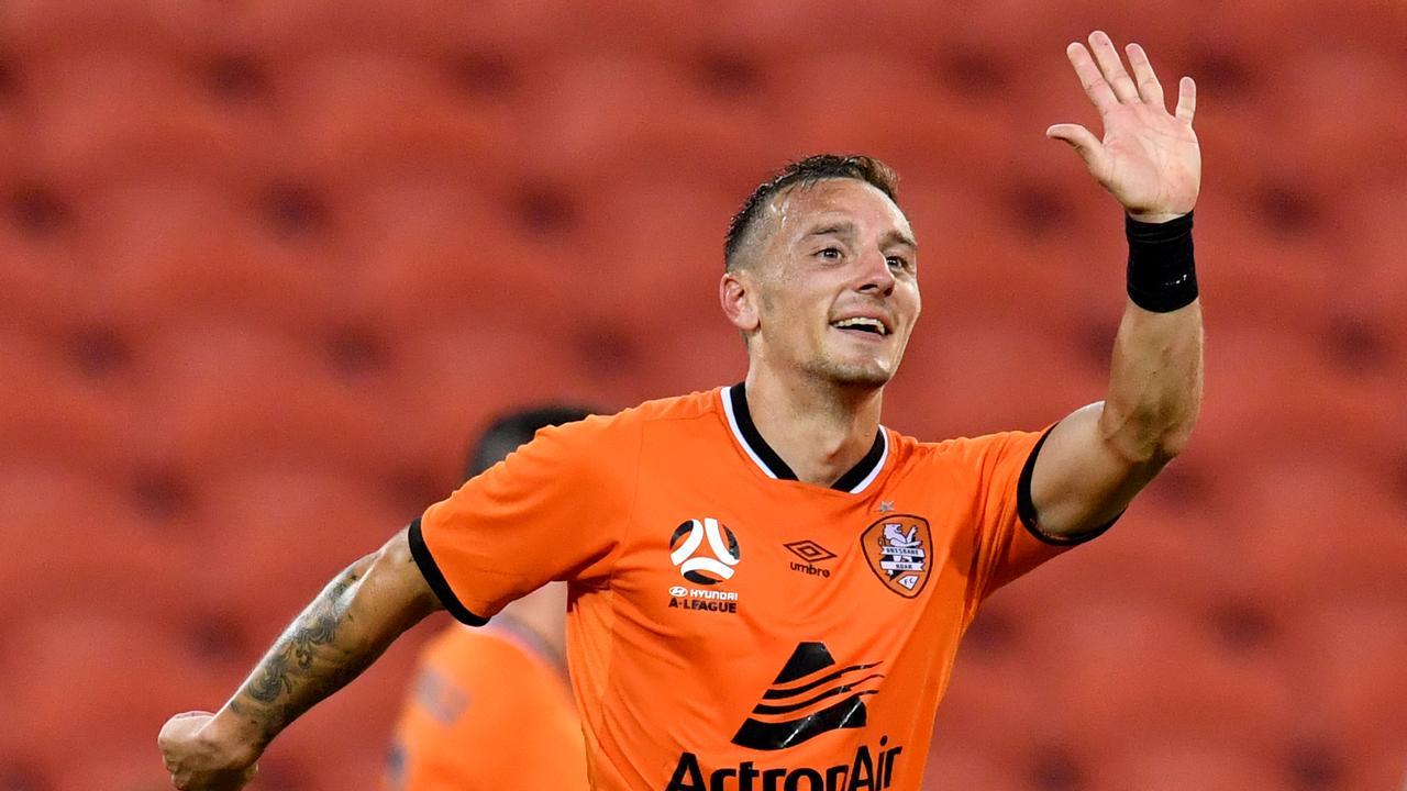 Eric Bautheac bagged a brace ot help Brisbane down Wellington