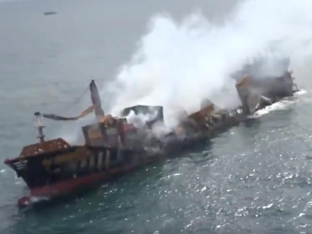 The vessel has been sinking for two weeks, with environmental experts warning it could trigger a disaster in the region.