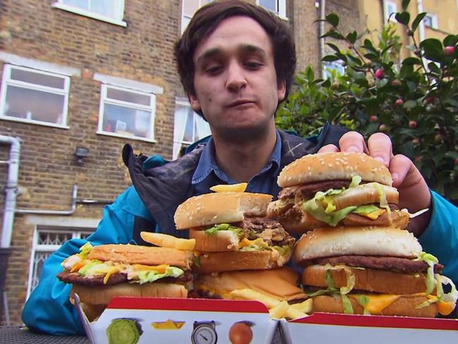 Student Tom Spector took up the junk food diet experiment with enthusiasm.