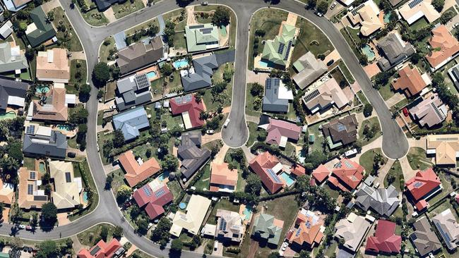 Brisbane home values are holding steady, despite falls in other capital cities. Photo: Nearmap.com.au.