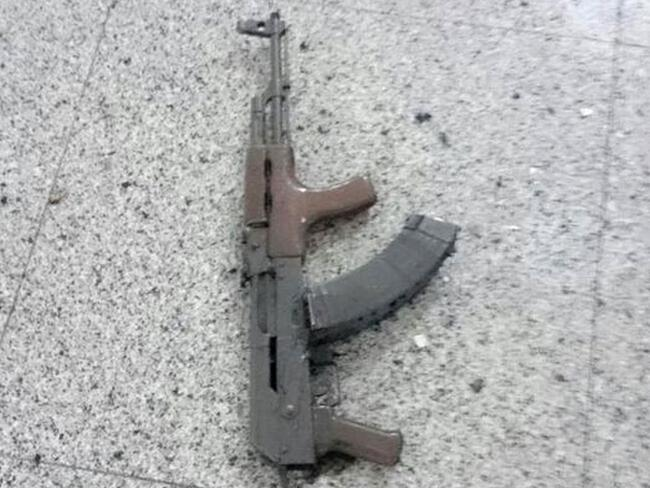 This is a gun used during the terror attack at Istanbul's Ataturk airport. Picture: Reuters/Picture Media