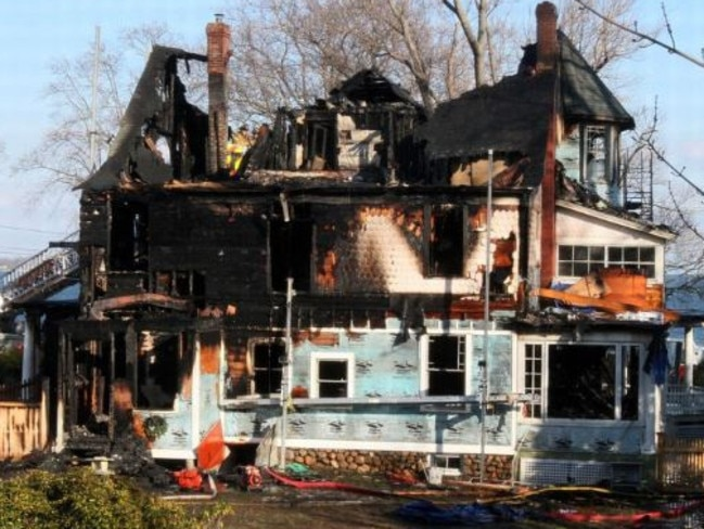 Lily, twins Grace and Sarah, plus their grandparents, Lomer and Pauline Johnson, died in this Connecticut house fire. Picture: Supplied