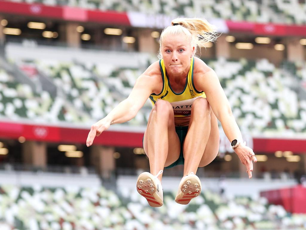 Brooke Stratton will compete for a medal in the long jump final on Tuesday. Picture: Christian Petersen/Getty Images