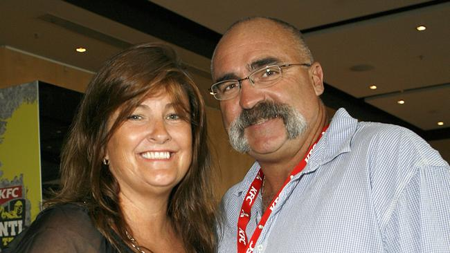 Dynamic duo ... Merv Hughes with his beloved wife Sue.