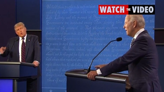 Donald Trump and Joe Biden bicker during debate: 'Will you shut up?'