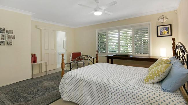 One of the bedrooms at 56 Jacaranda Ave, Kenmore Hills.