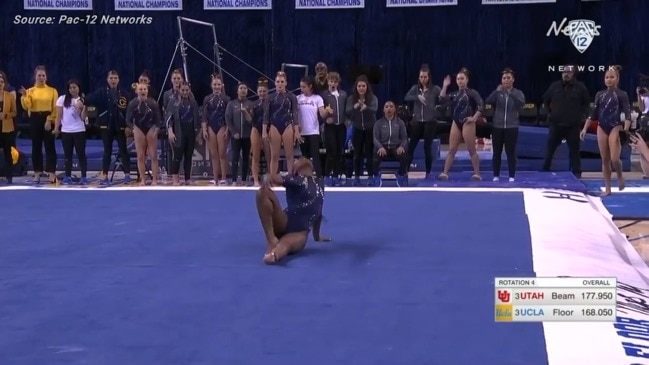 UCLA gymnast goes viral