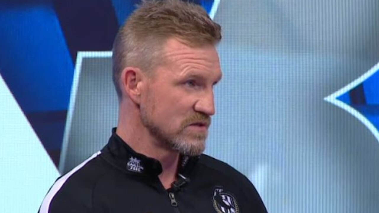 Nathan Buckley is grilled about his future.