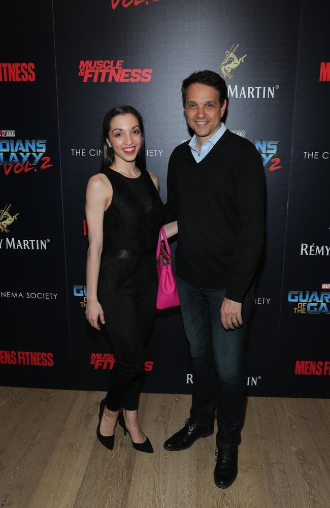 Ralph Macchio and Julia Macchio at the Guardians of the Galaxy Vol. 2 premiere.