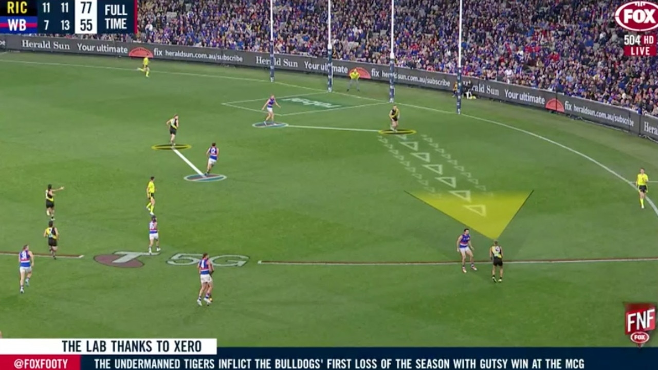The Dogs' defence was picked apart by Richmond on Friday night.