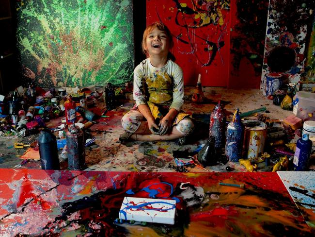 Aelita Andre in her studio.