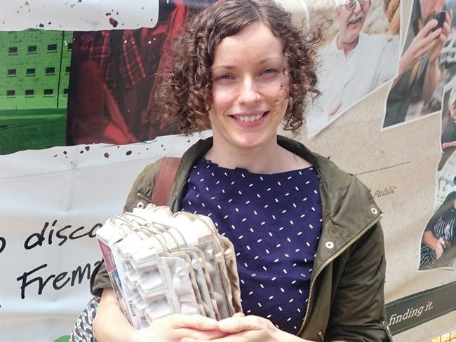 Lindsay Miles says people should start simply by carrying their own water bottle.