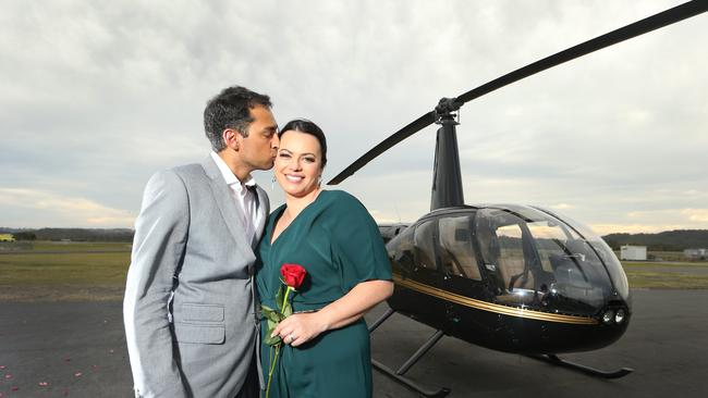 Shannon Stockman-Wihonhi with her soon-to-be fiance before the surprise proposal. Picture Glenn Hampson