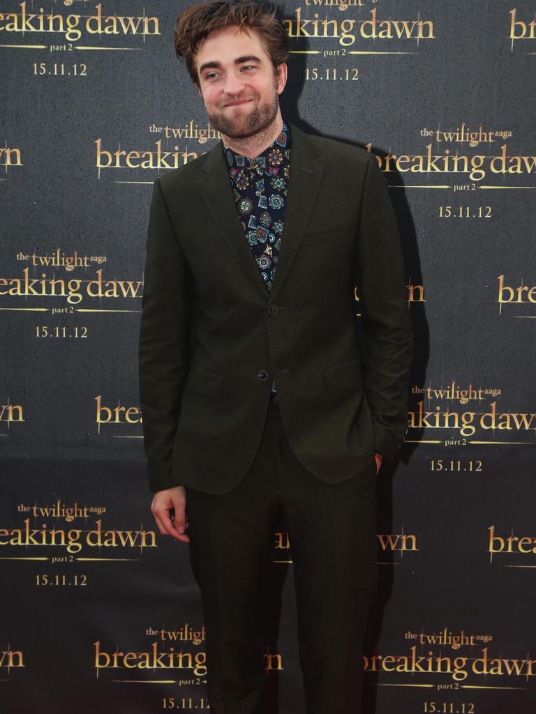 Robert Pattinson who plays vampire Edward Cullen.