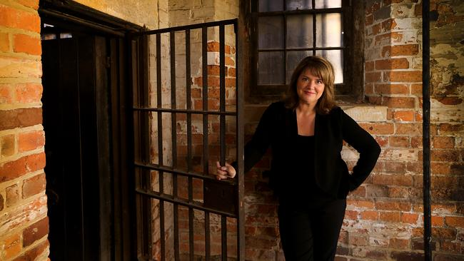 BBC is doing a documentary about Madeleine Ogilvie's convict heritage. She has a Fagan in her closet. pictured at the Old Hobart Jail
