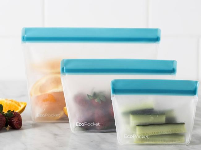 ECOPOCKET REUSABLE STORAGE POUCHES, $16.99 Once upon a time ziplock bags were a savvy packer's secret weapon. Now that we've realised the error of our ways, these Davis & Waddell pouches are the dishwasher and freezer-safe reusable alternative you've been looking for. With one, two, and six-cup capacity and an airtight seal, they're as good for trail mix on a hike as they are for storing spillables in your suitcase. catch.com.au