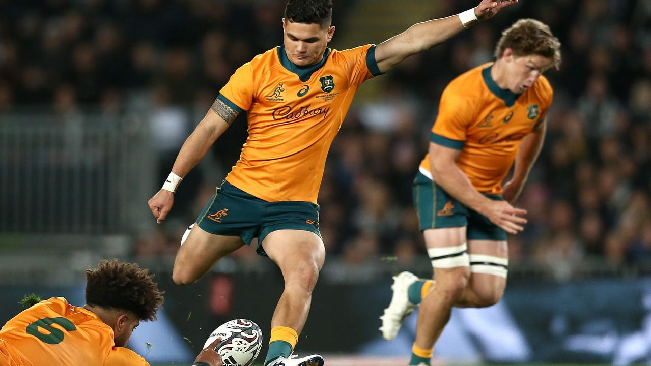 Noah Lolesio had a horror kicking night in the first Test. Picture: Anthony Au-Yeung/Getty Images