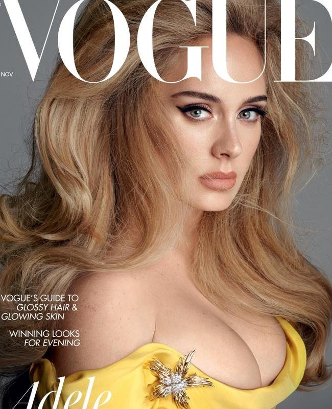 One of Adele's incredible new British Vogue covers. Picture: Vogue