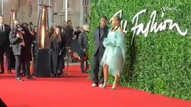 Rihanna and A$AP Rocky walk the red carpet at British Fashion Awards