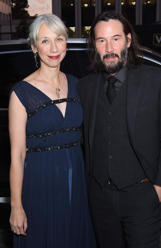 Alexandra Grant and Keanu Reeves attend the 2019 LACMA Art + Film Gala Presented By Gucci at LACMA on in Los Angeles. Picture: Presley Ann/Getty Images North America/AFP