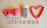 Sweet-smelling glitter play dough recipe
