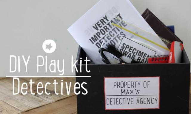 DIY detective play kit for imaginary fun
