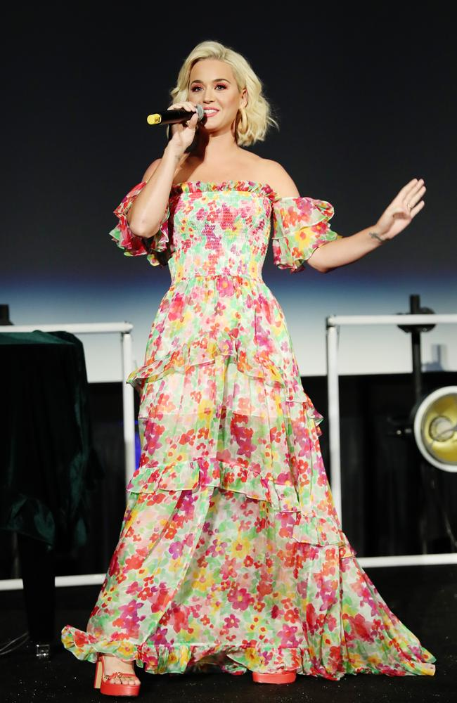 Katy Perry is set to perform a free concert to show her gratitude to the firefighters and families affected by Australia's bushfires. Picture: Rich Polk/Getty Images for Capitol Music Group