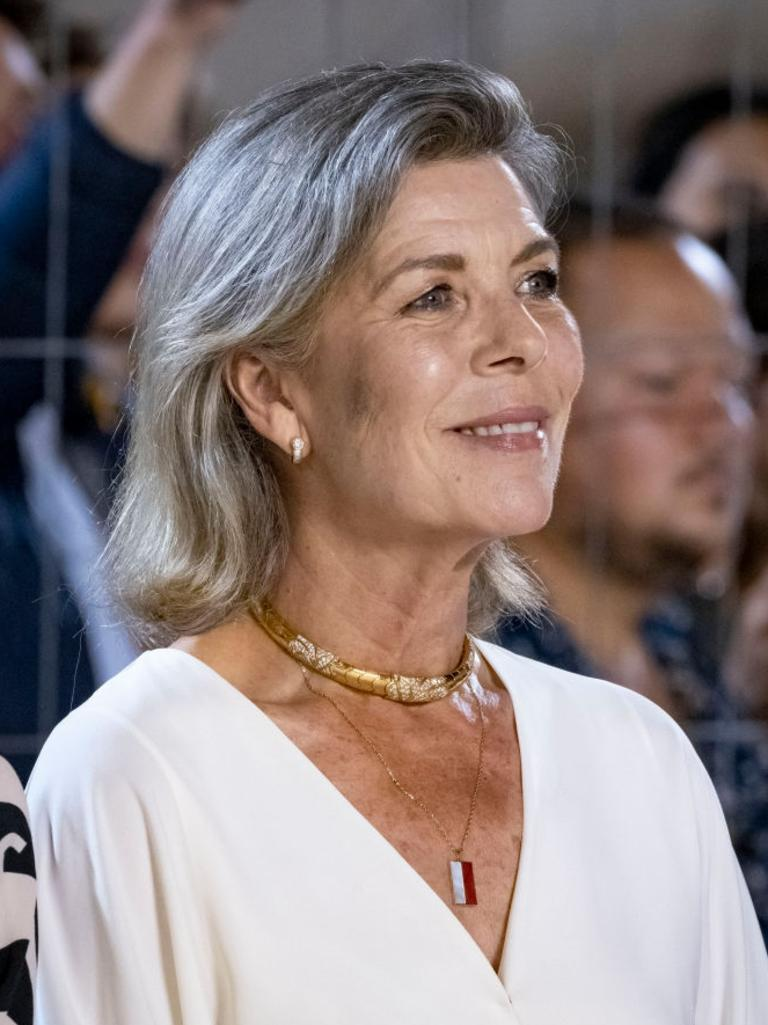 Princess Caroline in July 2021 with a hint of blonde still in her hair. Picture: Arnold Jerocki/Getty Images
