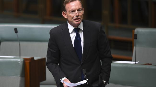 Former Australian prime minister Tony Abbott voted No but, Yes, he will be going to a same-sex wedding ceremony. Picture: AAP Image/Lukas Coch.