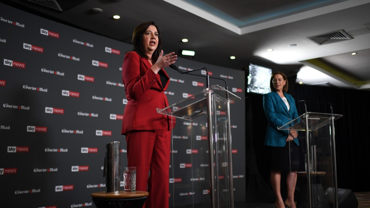 Premier Palaszczuk looked 'washed out and angry' during leaders debate