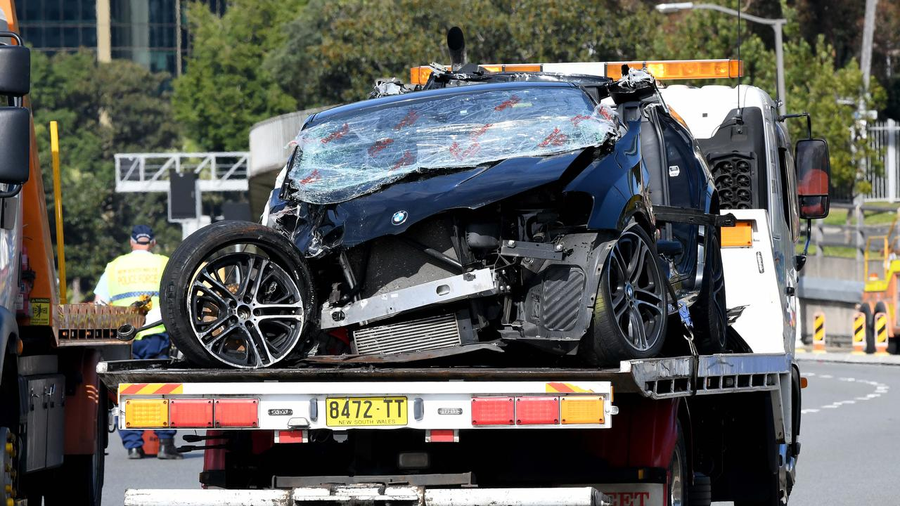The driver of the BMW was trapped in her car for a period of time, with emergency services forced to cut her out. She has suffered 'at least' a broken leg. Picture: NCA NewsWire/Bianca De Marchi