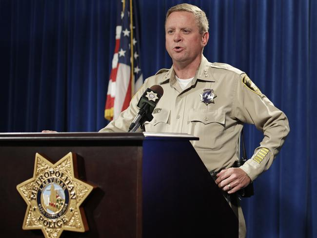 Las Vegas police Undersheriff Kevin McMahill has appealed to the public for clues. Picture: AP
