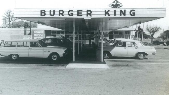 The Burger King on Anzac Highway at Everard Park, some time between 1962 and 1972. picture Adrienne Peel