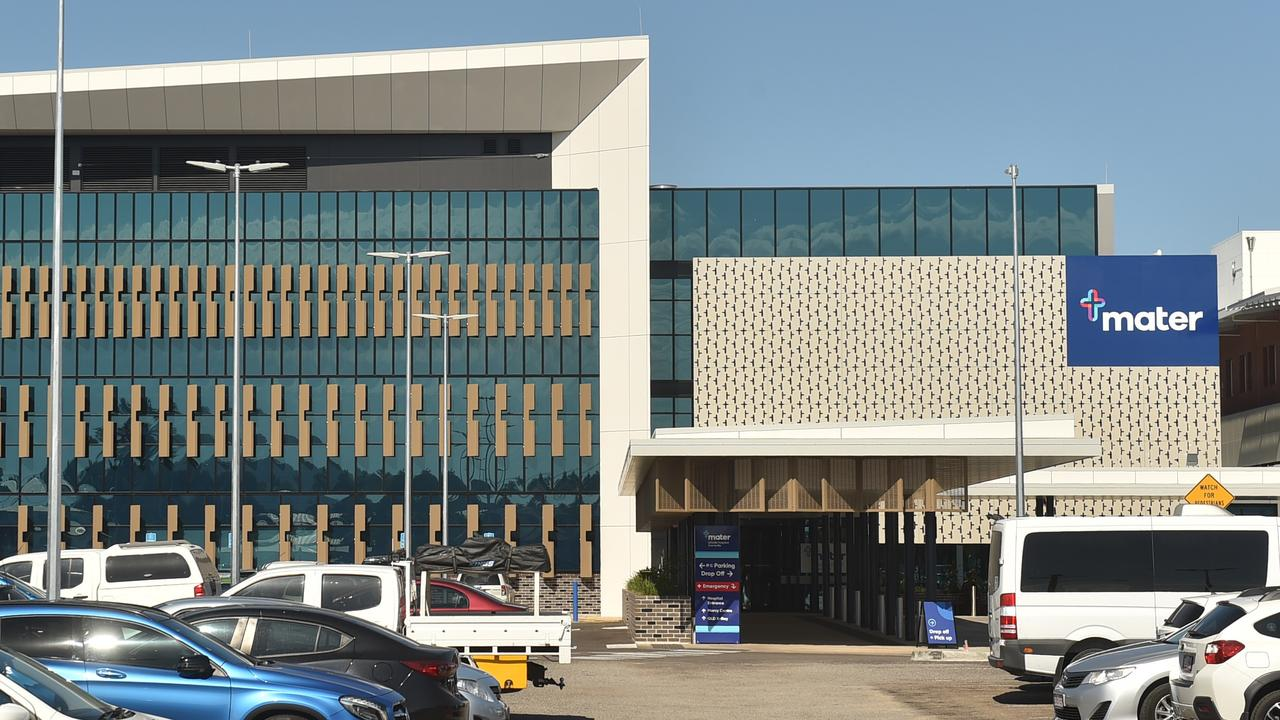 A woman diagnosed with coronavirus visited the Mater Hospital in Townsville. Picture: Evan Morgan