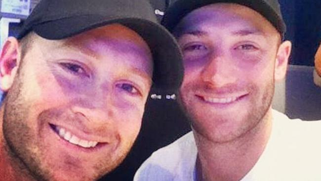 Michael Clarke and the late Phillip Hughes. Picture: Instagram