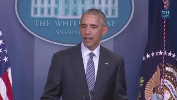 Obama talks about the difficulties of being U.S President in press conference