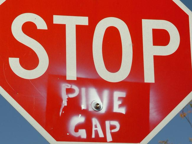 Pine Gap has attracted its share of protesters over the years.