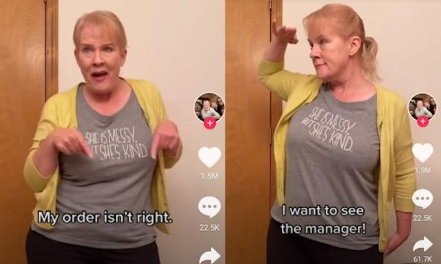 Mum goes viral for her 'Karen' inspired dance moves
