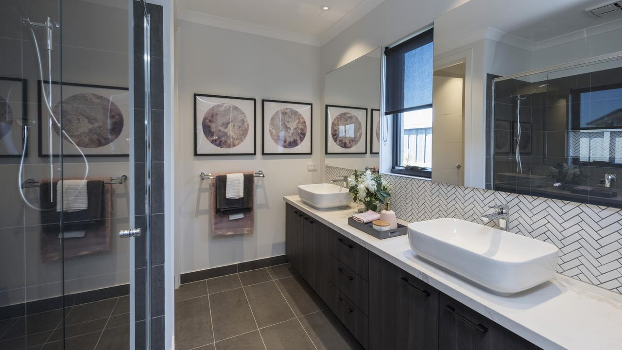 On trend: the main bedroom's ensuite.