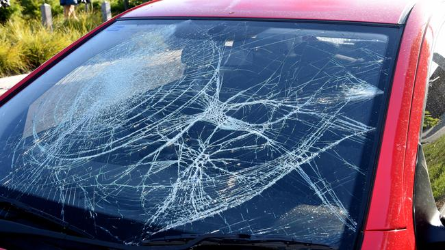 Neighbours had their cars pelted with stones. Picture: Nicole Garmston.