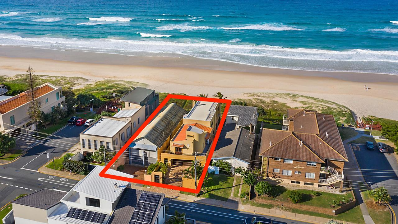 These blocks at 67 and 69 Hedges Ave, Mermaid Beach, have sold. Photo: Supplied.