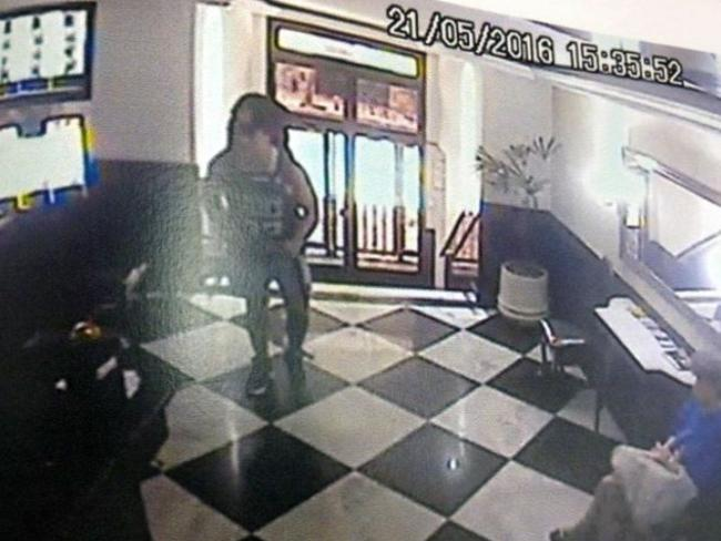 Rye Hunt, pictured on Brazilian CCTV, became distressed after taking NBOMe and took off from friends.