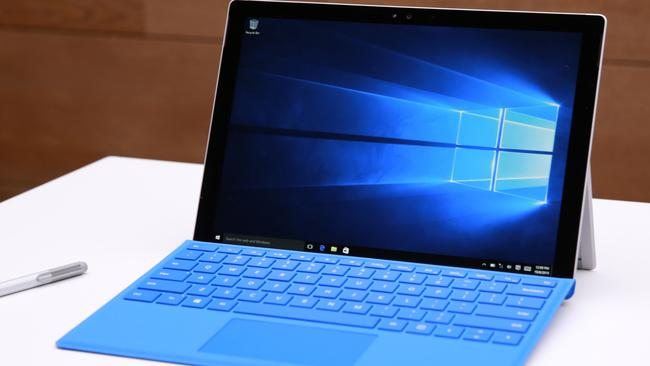 Pro revamp ... Microsoft's Surface Pro 4 has a revamped keyboard, screen and specifications. Picture: Mark Von Holden/Microsoft via AP