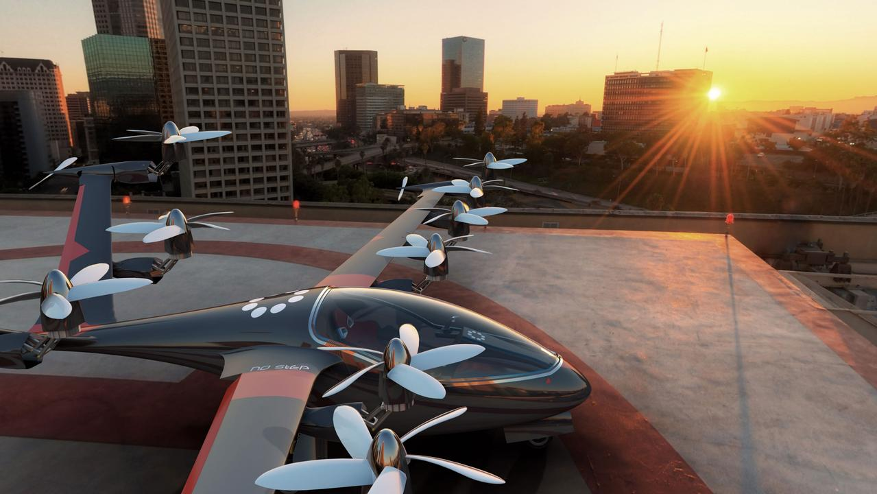 Concept virtual takeoff and landing aircraft that could be used by Uber Elevate in future. Picture: supplied