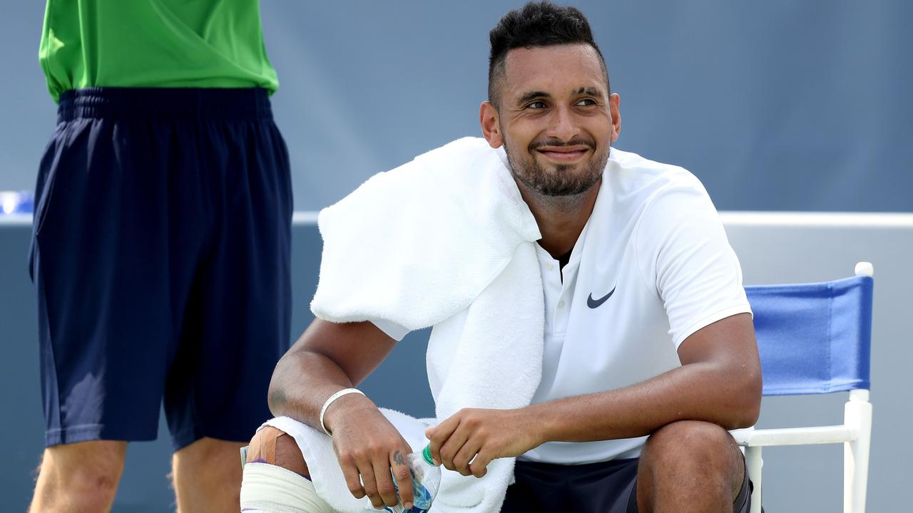 Can Nick Kyrgios produce the good at Flushing Meadows? Picture: Getty.