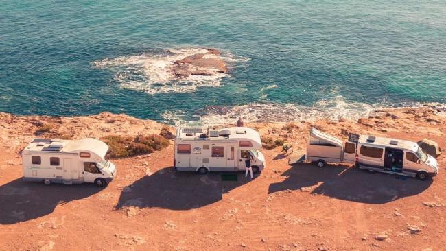 Three caravans at coast. Picture: Willian Justen de Vasconcellos / unsplash